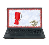 Online Christmas charity giving, donations. Royalty Free Stock Photography