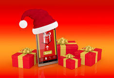Online Christmas gifts Stock Images