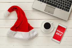 Online christmas holiday shopping concept Royalty Free Stock Photo