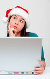Online christmas presents royalty free stock images