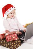 Online christmas shopping Stock Image