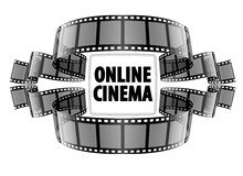 Online cinema video film Stock Image