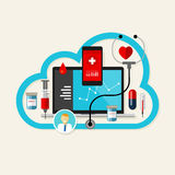 Online cloud medical health internet medication Royalty Free Stock Image