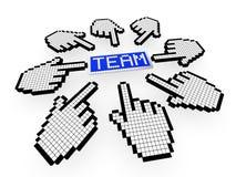 Online collaboration concept stock illustration