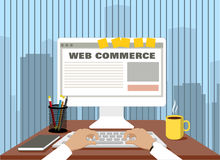 Online commerce. concept trade Internet Royalty Free Stock Image
