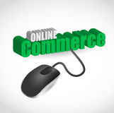 Online commerce mouse illustration design Stock Photos
