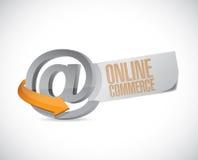 Online commerce sign illustration design. Over a white background Royalty Free Stock Image