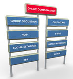 Online communication Stock Images