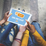 Online Communication Chat Conversation Global Concept Royalty Free Stock Photos