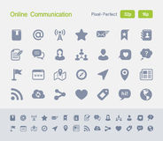 Online Communication | Granite Icons Royalty Free Stock Images