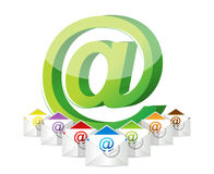 Online communication Royalty Free Stock Photo