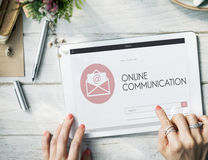 Online Communication Webpage Envelop Mail Concept Royalty Free Stock Photos