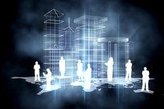 Online community background Stock Image