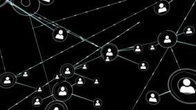 Online community on black screen stock video
