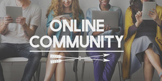 Online Community Connection Social Media Networking Concept Royalty Free Stock Photos