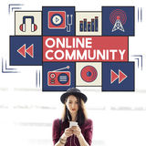 Online Community Connection Society Social Concept Royalty Free Stock Photography