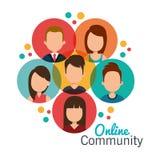 Online-Community-Design lizenzfreies stockfoto