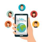 Online-Community-Design lizenzfreie stockfotografie