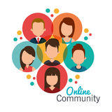 Online community design. Illustration eps10 graphic Royalty Free Stock Photo
