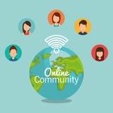 Online community design. Illustration eps10 graphic Stock Image
