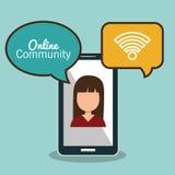 Online community design. Illustration eps10 graphic Royalty Free Stock Image