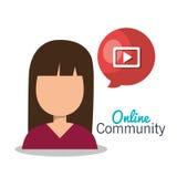 Online community design. Illustration eps10 graphic Stock Photos