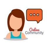 Online community design. Illustration eps10 graphic Stock Images