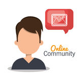 Online community design. Illustration eps10 graphic Royalty Free Stock Photography