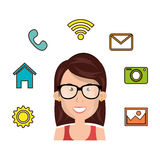 Online community design. Illustration eps10 graphic Stock Photo