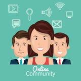 Online community design. Illustration eps10 graphic Stock Photography