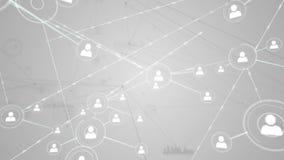 Online community on grey screen stock video