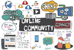 Online Community Networking Connection Concept Royalty Free Stock Photography