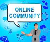 Online-Community stellt Illustration des Social Media-3d dar vektor abbildung