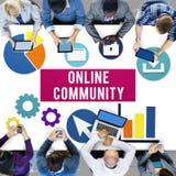 Online-Community-Verbindungs-Internet-Konzept lizenzfreies stockfoto