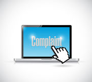 Online complaints concept illustration design Royalty Free Stock Photo