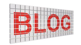 Online Concept Blog Royalty-vrije Stock Foto's