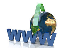 Online Concept By Green arrow Internet address Stock Image