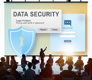 Online Concept van gegevensbeveiliging het Digitale Intenret Phishing Royalty-vrije Stock Afbeeldingen
