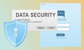 Online Concept van gegevensbeveiliging het Digitale Internet Phishing royalty-vrije illustratie