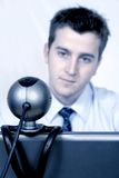 Online conference Stock Image