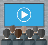 Online conference. Internet meeting, video call Royalty Free Stock Image
