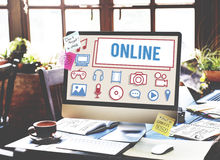 Online Connection Social Networking Internet Technology Concept Stock Photography