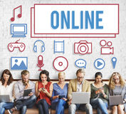 Online Connection Social Networking Internet Technology Concept Stock Image