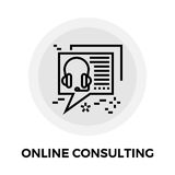 Online Consulting Line Icon Royalty Free Stock Photos
