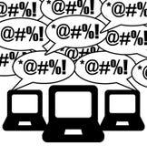 Online conversation Stock Image