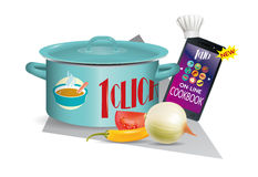 Online cookbook,eps 10 Stock Image