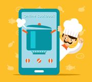 Online cookbook. Search for recipes in web Royalty Free Stock Image