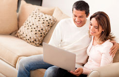 Online couple Stock Photos