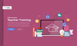 Online course education royalty free illustration