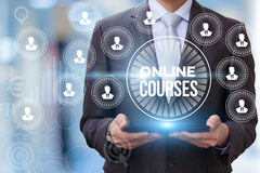 Online course show businessman . Royalty Free Stock Image